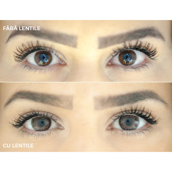 ColourVUE TruBlends Grey - lentile de contact colorate gri lunare - 30 purtari (2 lentile/cutie)