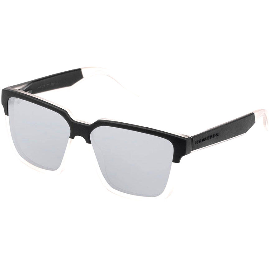 Ochelari de soare unisex Hawkers H04SHT Black Frozen Grey Chrome Motion S Strong
