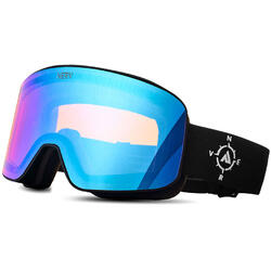 Ochelari de ski NERV COMPASS BLACK-BLUE MIRROR