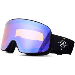 Ochelari de ski NERV COMPASS BLACK-PURPLE MIRROR
