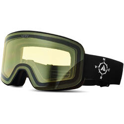 Ochelari de ski NERV COMPASS BLACK-YELLOW