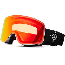 Ochelari de ski NERV COMPASS WHITE BLACK-RED MIRROR