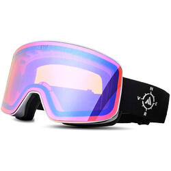 Ochelari de ski NERV COMPASS WHITE BLACK PURPLE MIRROR